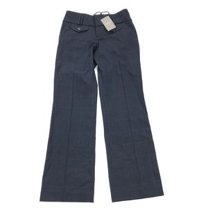 Cartonnier Anthropologie Trousers Plaid Navy Blue